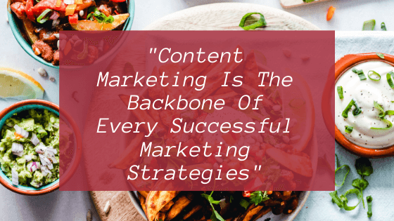 Content marketing backbone in Marketing